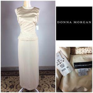 Donna Morgan Satin Pearl Accent Sz 10 Formal Dress